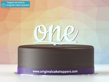 """""""one"""" White - Birthday Cake Topper - Made by OriginalCakeToppers"""