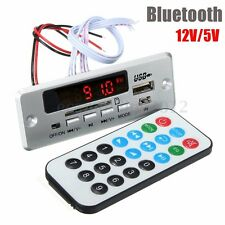 DC 12V/5V LED Car Bluetooth MP3 Decode Board Module HIFI Amplifier FM Audio USB