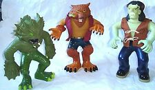 3 Manley Toy Quest Stretch Armstrong Type Screamer FRANKENSTEIN Wolfman Monster