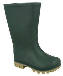 Childrens Wellies Wellington Boots Boys Girls Waterproof Pull On Rain Snow Boots