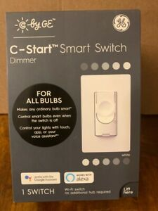 GE Smart Multi-Location White Smart with LED Touchless Light Switch w/Wall Plate