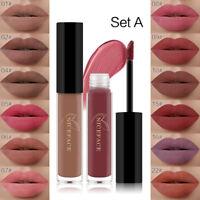 1Set/12pcs Lip Gloss Matte Long Lasting Liquid Lippenstift Make-up Wasserdicht F