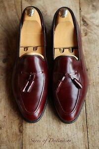 Church's Cheaney Austin Reed Burguny Tassel Loafer Shoes Men's UK 9.5 US 10.5