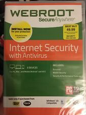 Webroot SecureAnywhere Internet Security Plus With Antivirus 3 Devices WIN IOS