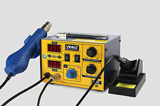 NL-YIHUA 862D SMD HOT AIR REWORK STATION WITH SOLDERING IRON NEW 220V