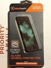 Blackweb Glass Screen Protector For iphone SE/5S/5  *NEW*