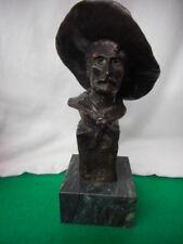 "Frederic Remington Cowboy Bronze 12"" Tall Marble Base"