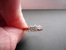 Q102 Ladies 9ct gold Diamond 0.50 carat trilogy ring size K