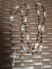 Stations of the Cross rosary rosaries made of wood from Medjugorje 26,8""