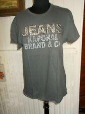 Tee shirt coton gris imprimé logo clouté KAPORAL XL  manche courte