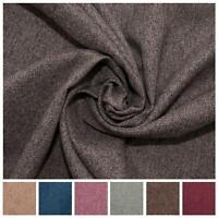 Fire Retardant Rustic Tweed Faux Wool Look Chevron Woven Upholstery Fabric