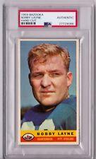 1959 Bazooka Bobby Layne Hand Cut PSA Authentic Mint Condition HS115
