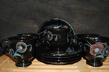 Midnight Pearl Dishes - 5 cups and 5 saucers by Mikasa