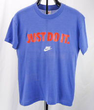 Vintage 90s NIKE Just Do It Swoosh Logo Blue Soft/Thin 50/50 T-Shirt L Well Worn