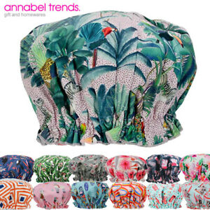 NEW Annabel Trends Shower Cap Bath Hat For Hair Waterproof Fabric Adult / Kids