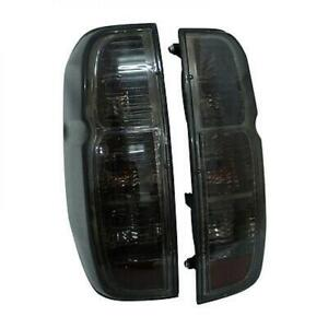 Frontier Navara D40 Tekna Tail light Lamps Black Smoke Lens Pair Fit Nissan