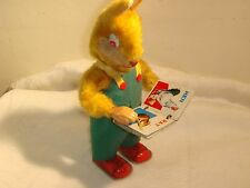 Vintage Wind-up Toy Rabbit Reading Book