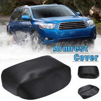 Leather Armrest Center Console Lid Cover For Toyota Highlander Kluger
