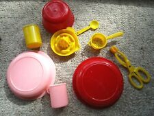 Vtg 1950s Amsco Doll- Mixed Plastic Dishes Doll Accessory Lot