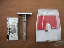 Vintage 1966 Gillette Adjustable Razor w/ Sealed Blades & Case