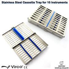 Inox Plateau cassette pour 10 Pcs Instruments Chirurgie Implant Dentaire Lab CE