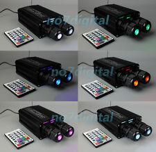 32W RGBW fiber optic light source led optical fiber light dual output RF remote