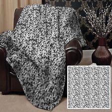 blanco y Negro Digital Camuflaje Diseño Suave Manta polar Gran Idea Regalo