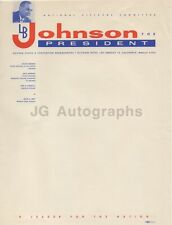 Lyndon B. Johnson - LBJ For President Stationary Page