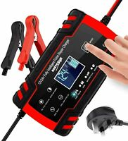 8A Smart Automatic Car Battery Charger Repair Jump Starter Pulse 12V 24V AGM/GEL