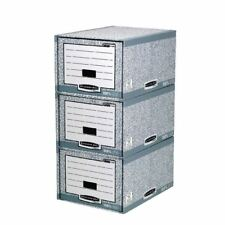 Fellowes Bankers Box System Storage Drawer Grey and White (Pack of 5)  [BB88541]
