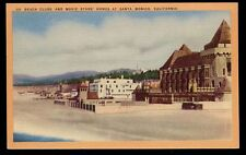 1939 SANTA MONICA CA Beach Club & Movie Stars Homes postcard