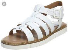 Clarks Artisan Multi-strap Leather Sandals w/ Adj. Strap - Lydie Kona Size 8M