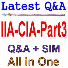 Certified Internal Auditor Part 3 For CIA Exam Q&A PDF+SIM