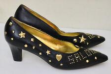 Andrea Pfister vintage Rodeo Saloon embellished high heel shoes 7.5
