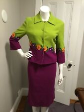 Moschino Suit Skirt Cheap and Chic Purple Green Flower detail Size 8US NWT! NEW!