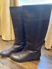 J.CREW dark brown leather knee high boots - Size 8.5