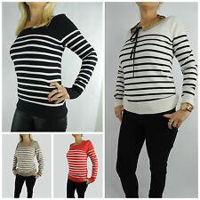 Hüftlange Damen-Pullover aus Baumwolle