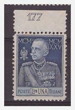 REGNO 1925  - GIUBILEO DEL RE - LIRE 1  dent. 11   **  NUMERO DI TAVOLA