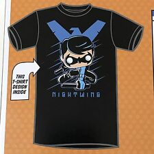 Nightwing Shirt XL Funko Pop Tees DC Target Limited Edition Unisex Black Blue