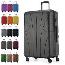 Suitline Großer Hartschalen-Koffer Koffer Trolley Rollkoffer Reisekoffer TSA L