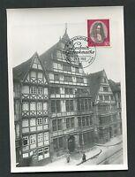 BUND MK 1966 518 LEIBNIZ PHILOSOPH MAXIMUMKARTE CARTE MAXIMUM CARD MC CM d1421