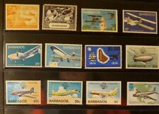 Barbados Aircraft & Aviation Stamps Lot of 13 - MNH  - See Detail for List