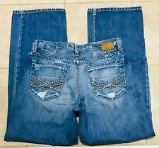 BKE Buckle Mens Marshall Distressed Blue Jeans size 34
