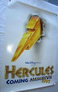 HERCULES ORIGINAL MOVIE POSTER  27x40  DISNEY ANIMATION
