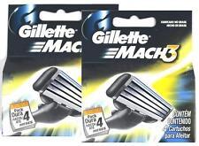 Gillette Mach Mach 8 Cartridges Refill Razor Blades Blade 2 Pack