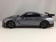 GT Spirit Nissan GT-R R35 Nismo Silver Grey w/ Carbon Fiber Resin Car Model 1:18