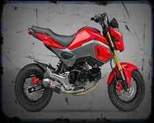 Honda Grom Aka Msx 125 2 A4 Metal Sign Motorbike Vintage Aged