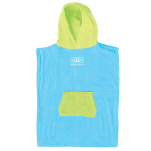 Ocean & Earth Toddlers Hooded Surf Poncho Towel - Blue