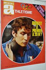 MIROIR ATHLETISME N°91 1972 POSTER MATZDORF CF INDOOR BESSON ROTHENBURG FOSBURY