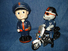 2 Law Enforcement SF Giants Lou Seal Cop Police Mascot & Boy Face Bobblehead SGA